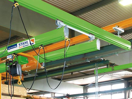 Stahl Chain Hoist On Light Crane System